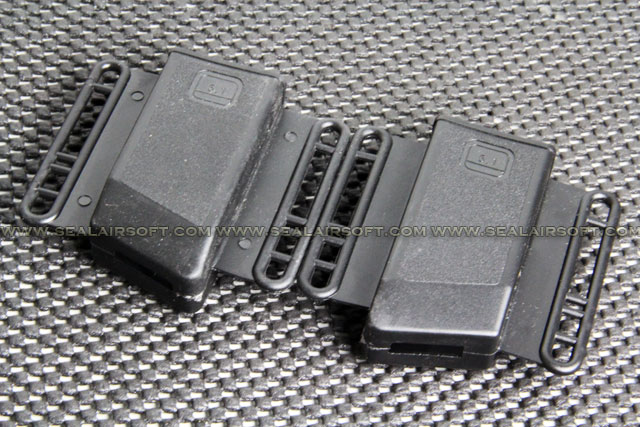 China Made Airsoft Plastic 2X Belt Magazine Pouch Holster For Hi-Capa 5.1 Black