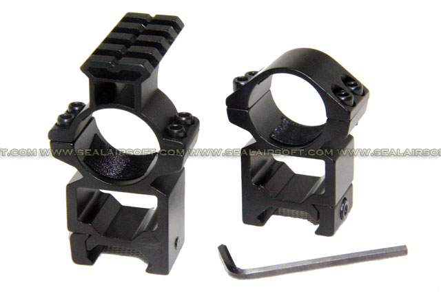 SE 25mm See-Through Scope Mount Rings With Top Rail For 20mm Rail SE-MD3004-25MM