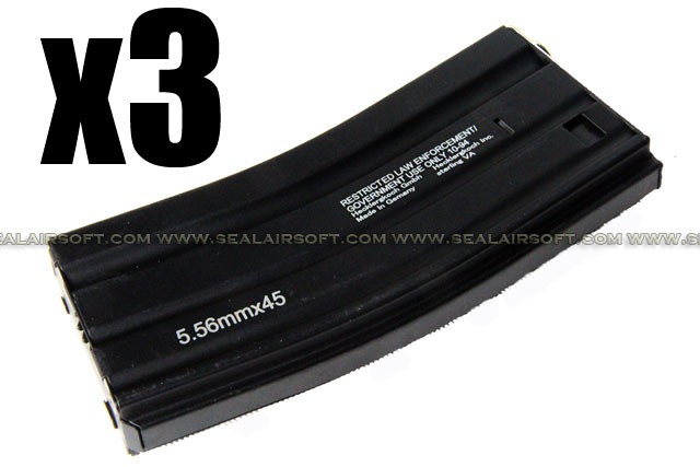 D-BOYS 300rd Hi-Cap HK Magazine For M4 / M16 AEG (With Marking) DB-MAG-13-3PCS