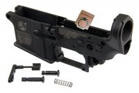 SE GEAR CT Type Lower Receiver Set For WA M4 / M16 GBB Series Black SE-LR-CT