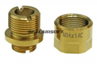 COW COW A01 Barrel Extender Adapter For Hi-Capa (11mm CW to 14mm CCW) (Gold)
