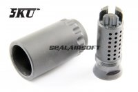 5KU 7.62 Style Taper Mount Blast Shield With Flash Hider (14mm CCW) 5KU-198