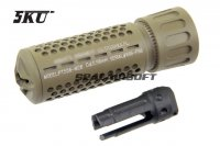 5KU 556 QDC / CQB Quick Detach Suppressor (14mm CCW, Tan) 5KU-204T