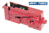 Army Force Aluminium Red Gear Shell Case For Systema PTW / DTW AEG AF-IN0208R