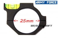 Army Force Spirit Bubble Level Ring Mount For Dia 25mm Tube Scope AF-MT0106