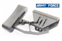 Army Force CNC Light Weight Full Adjust Stock For M4 Series AEG (BK) AF-ST0028