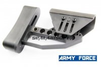 Army Force CNC Full Adjust Stock For M4 Series AEG (BK) AF-ST0029