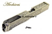 Archives Carved Patterns Gold Slide For Marui G17 / WE G34 Gas GBB AH0001