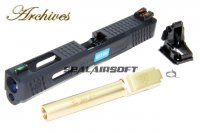 Archives WEI-E CNC Aluminum Custom Slide For WE Marui G17 GBB Gold Barrel AH0008