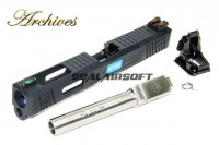 Archives WEI-E CNC Aluminum Custom Slide For WE Marui G17 GBB Silver Barrel AH0009