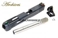 Archives WEI-E CNC Aluminum Custom Slide For WE G34 GBB Silver Barrel AH0011