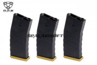 APS Froged Match Rifle FMR 300 Rds Magazine For AEG (Gold, 3PCS) APS-AER032G-3PCS