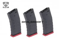 APS Froged Match Rifle FMR 300 Rds Magazine For AEG (Red, 3PCS) APS-AER032R-3PCS