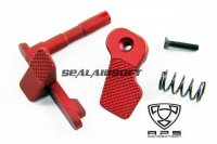 A.P.S. Ambidextrous Magazine Release Catch For M4/M16 Series AEG (Red) APS-AER051