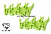 A.P.S. 8 Roound Shell Clips Set for Caddy System (Green) APS-CAM071G