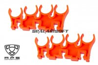 A.P.S. 8 Roound Shell Clips Set for Caddy System (Orange) APS-CAM071O