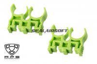 A.P.S. 2x Quad-Load Shell Clips Set For Caddy System (Green) APS-CAM072G