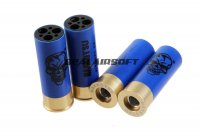 APS 9rds Gen 3 Shell For CAM MKII CO2 Shotgun (Blue, 4 Carts) APS-CAM142
