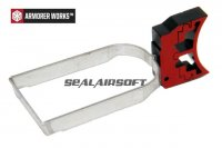 Armorer Works HX21 Aluminum Trigger Kit For AW / WE / Marui Hi-Capa 5.1 GBB RED AW-PARTS-0003