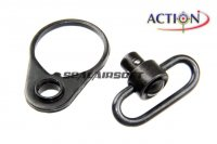 ACTION M4 Receiver End Plate With QD Sling Swivel A-QS-05