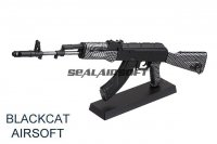 Blackcat Mini Non-Function Dummy Model Gun For Display - AK74 Carbon Fiber Texture BCA-MG-005