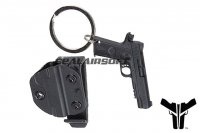 Blade-Tech Mini Pistol Key Chain w/ Holster & Clip - M1911 BTH-PART-KEY-HOL1911