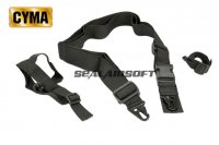 CYMA 3-Point QD Tactical Rifle Sling Black CYMA-HY135