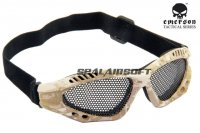 Emerson No Fog Metal Mesh Goggle Glasses AOR1 EM6480-AOR1