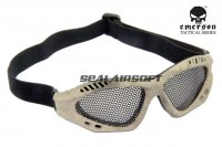 Emerson No Fog Metal Mesh Goggle Glasses A-Tacs EM6480-AT