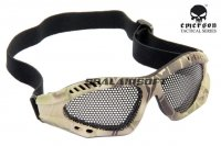 Emerson No Fog Metal Mesh Goggle Glasses Kryptek Highlander EM6480-HLD