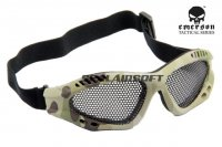Emerson No Fog Metal Mesh Goggle Glasses Multicam EM6480-MC