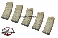 G&P 39rd MAGPUL PTS Magazine Kit for WA M4 GBB (5pcs Box, Sand) GP-WP159S-P