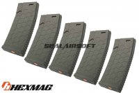 Hexmag Airsoft 120rd Magazine for AEG (5pcs Pack, Olive Drab) HMA-MAG01-V-OD