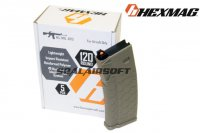 Hexmag 120rd Magazine For Systema PTW/DTW/CTW AEG (5pcs Pack, FDE) HMA-MAG02V-FDE