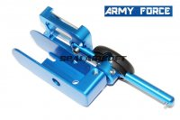 Army Force IPSC Aluminum Holster Without Inner Parts For Hi-Capa GBB Right Blue IPSC-0007BL