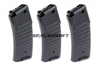 Jing Gong 300rd Hi-Cap Airsoft Toy Magazine For PDW AEG Series JG-M176-3PCS