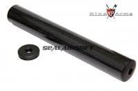 King Arms 41 x 290mm Carbon Fiber Silencer (14mm CW/CCW) KA-SIL-49