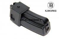 KJ Works 22rds Metal 6MM GAS Magazine For KC-02 .22 GBB Black MAGAZINE1206