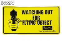 KWA DECO Car Licence Plate - Watch Out for Flying Object KWA-PT-DECO-CARPL-B