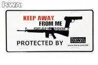 KWA DECO Car Licence Plate - Keep Away From Me ON SALE KWA-PT-DECO-CARPL-C