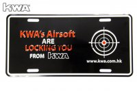 KWA DECO Car Licence Plate - Locking You KWA-PT-DECO-CARPL-D