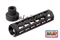 MAD Custom CNC Aluminum Keymod Rail Handguard For WE/SOG PLR-16 GBB MAD-CUSTOM-18-B-BK