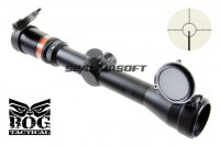 BOG 3-9X40 OPTIC FIBRE Illuminated Rifle Scope With Mount (RED) SC-0338A