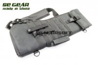 SE GEAR 29 Inch Molle Tactical Double Shotgun Gun Bag Pouch Black SE-DT-BC002