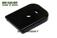 SE GEAR Metal Magazine Base Pad For Marui WE G17 / G18C GBB (Black) SE-P12-0014