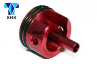 SHS Aluminum Long Type Cylinder Head For Ver.2 M4 Gearbox (Red, Padded Bottom) SHS-022