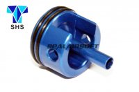 SHS Aluminum Long Type Cylinder Head For Ver.3 AK Gearbox (Blue, Padded Bottom) SHS-026