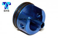 SHS Aluminum Short Type Cylinder Head For Ver.3 AK Gearbox (Blue, Padded Bottom) SHS-027