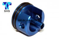 SHS Aluminum Short Type Cylinder Head For Ver.3 AK Gearbox (Blue, O-Ring Bottom) SHS-028