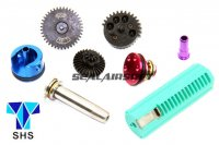 SHS New Type CNC 18:1 Speed-Up Gear Full Tune-Up Set For AK AEG (1 Teeth Piston) SHS-261